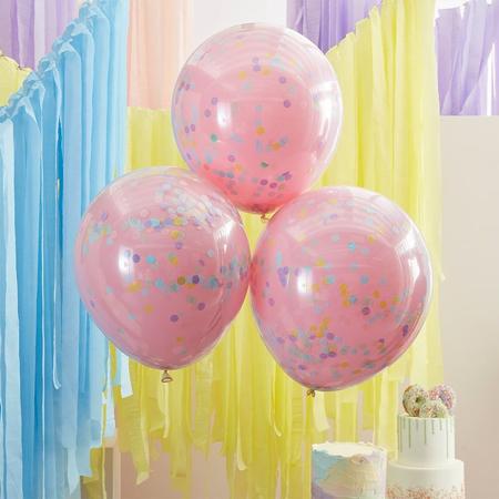Slika za Ginger Ray® Baloni s konfetima Double Stuffed Pastel