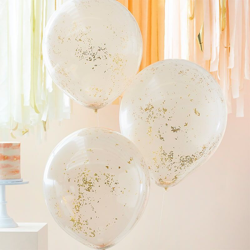 Slika za Ginger Ray® Baloni s konfetima Double Stuffed Peach Gold
