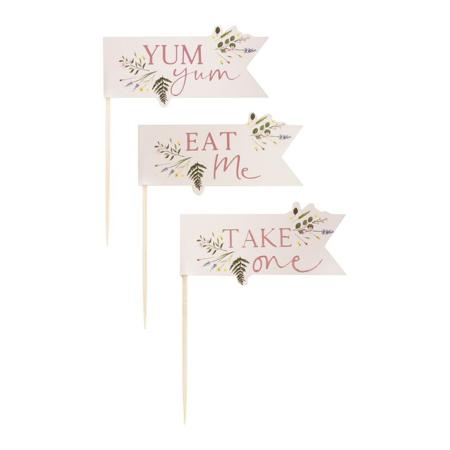 Ginger Ray® Ukrasi za kolačiće Floral 12 komada