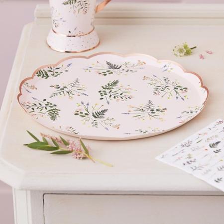 Slika za Ginger Ray® Papirni tanjurići Floral 8 komada