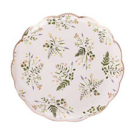 Ginger Ray® Papirni tanjurići Floral 8 komada