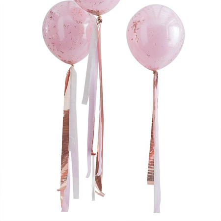 Ginger Ray® Resice za balone Mix It Up Rose Gold and Pink