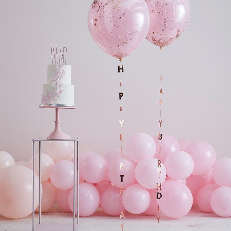 Slika za Ginger Ray® Trak s natpisom za balone Mix It Up Rose Gold
