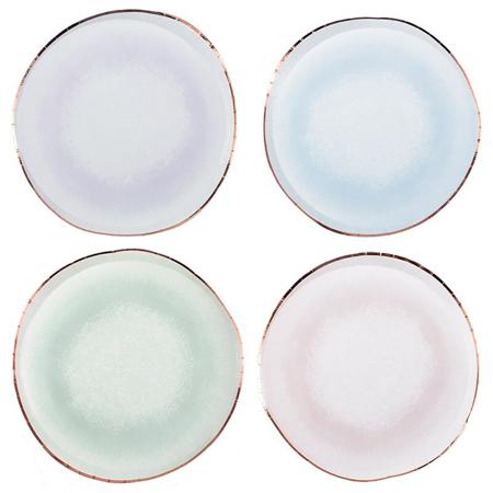 Ginger Ray® Pastelni papirnati tanjuri Mix It Up Watercolor 8 komada