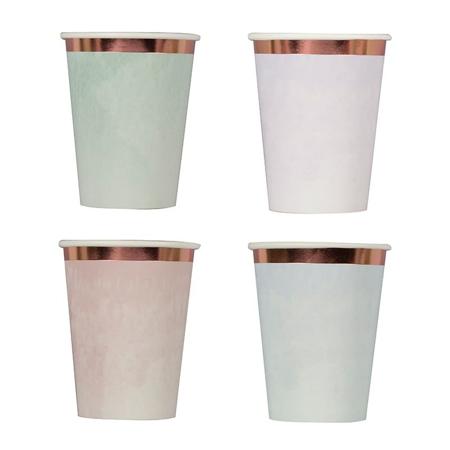 Ginger Ray® Papirnate čašice Pastel Watercolour 8 komada