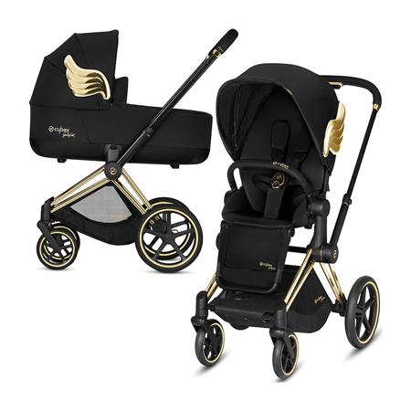Slika za Cybex® Dječja kolica s košarom 2v1 Priam JS RBAS Wings Black (0-22 kg)