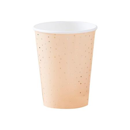 Ginger Ray® Papirne čašice Gold Polka Dot 8 komada