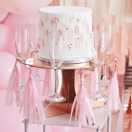 Slika za Ginger Ray®  Podmetač  za tortu i čašice Rose Gold