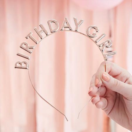 Slika za Ginger Ray® Obruč za glavu  Birthday Girl Rose Gold