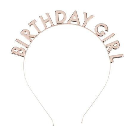 Ginger Ray® Obruč za glavu  Birthday Girl Rose Gold