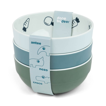 Slika za Done by Deer® Komplet 3 zdjelice Yummy Mini Blue