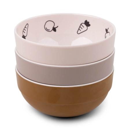 Done by Deer® Komplet 3 zdjelice Yummy Mini Powder