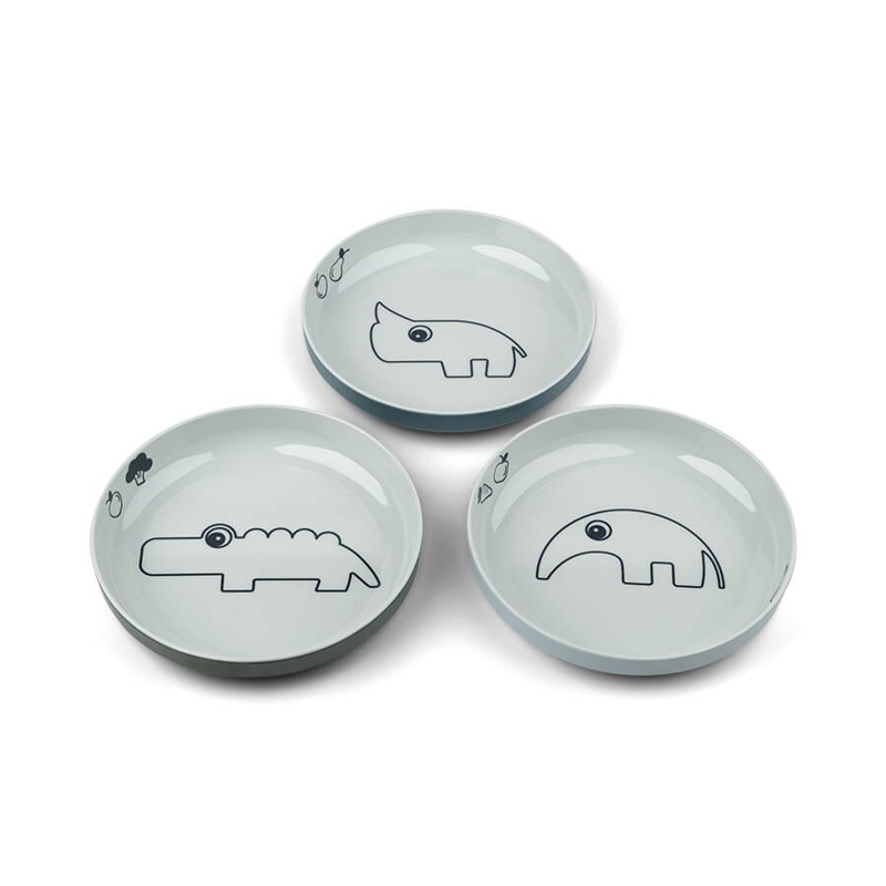 Slika za Done by Deer® Komplet 3 tanjuriča Yummy Mini Blue
