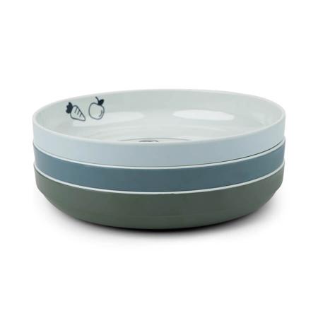 Done by Deer® Komplet 3 tanjuriča Yummy Mini Blue