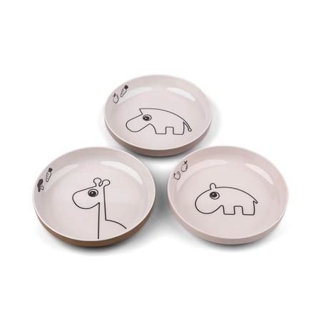 Slika za Done by Deer® Komplet 3 tanjuriča Yummy Mini Powder