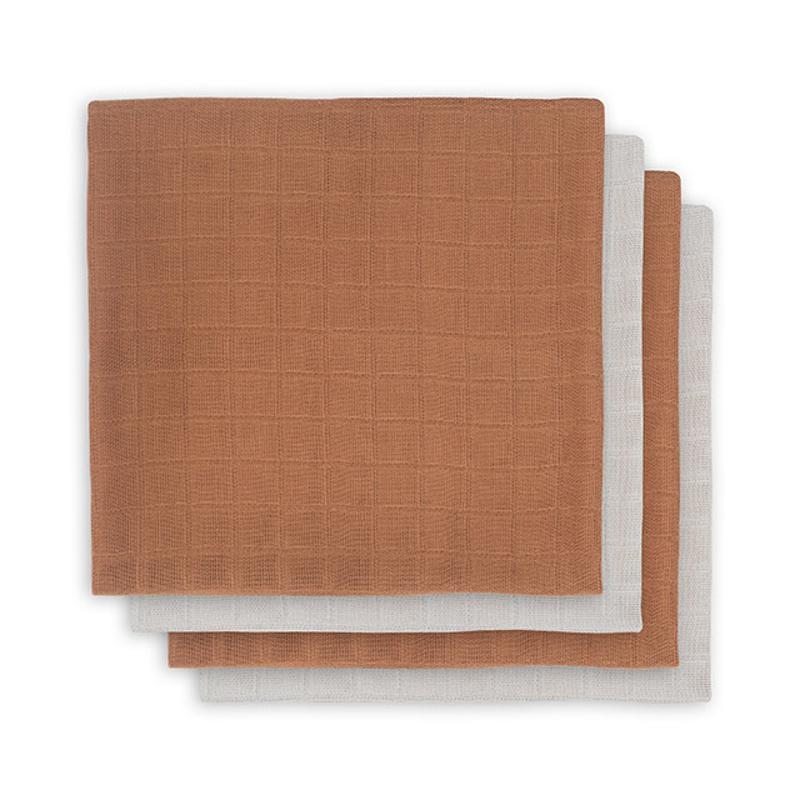 Slika za Jollein® Komplet 4 tetra pelene Caramel 70x70