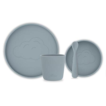 Jollein® Silikonski set za jelo Storm Grey