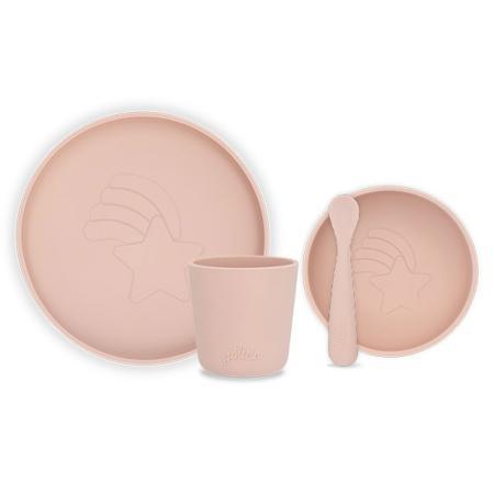 Jollein® Silikonski set za jelo Pale Pink