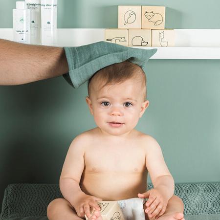 Slika za Jollein® Komplet 3 krpice za umivanje Ash Green 20x15