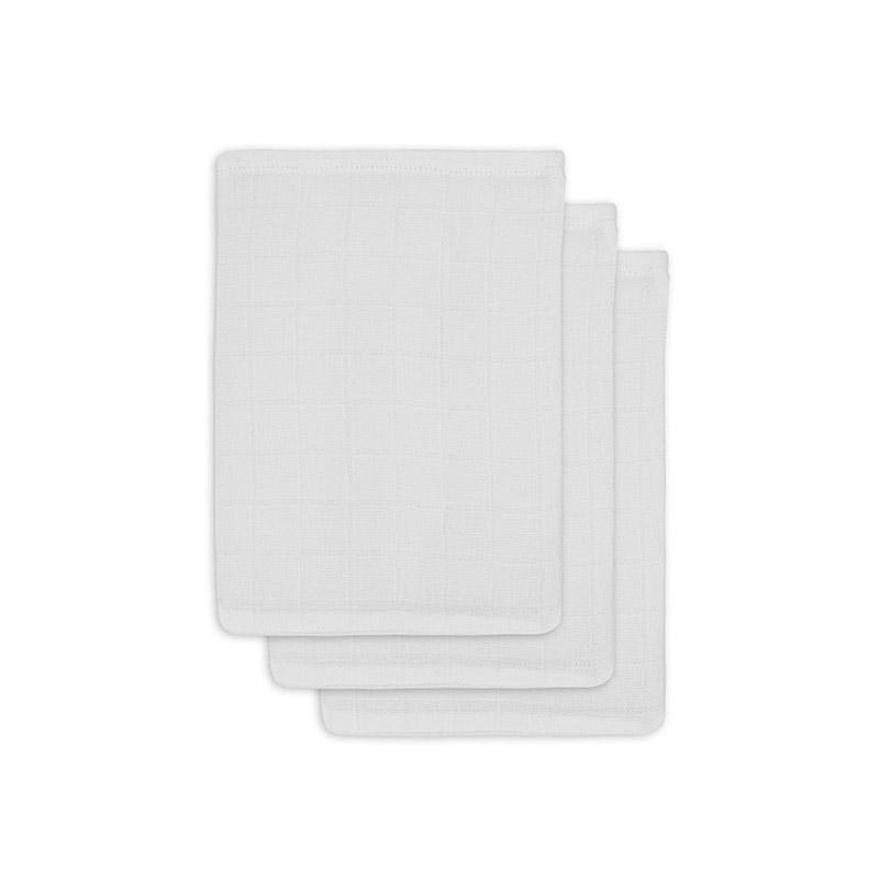 Slika za Jollein® Komplet 3 krpice za umivanje White 20x15