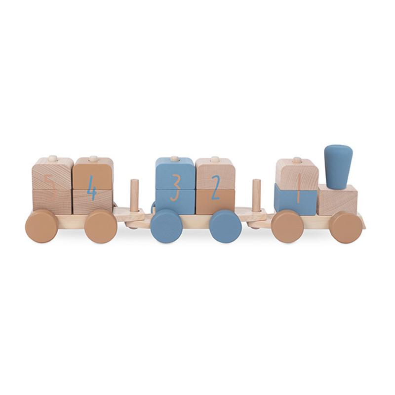 Slika za Jollein® Drvena igračka Vlakić Blue
