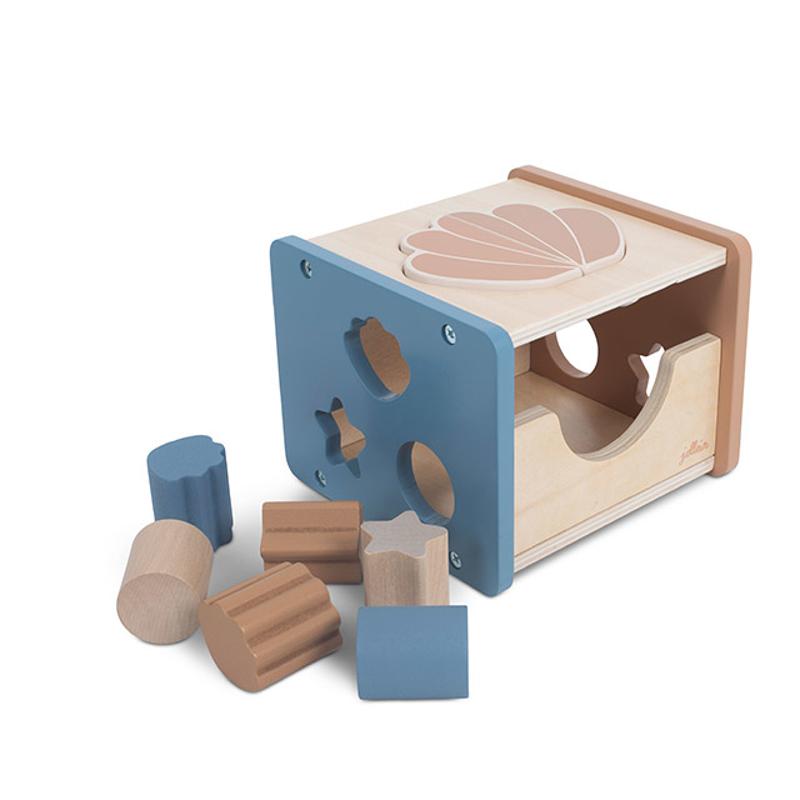 Slika za Jollein® Drvena didaktička igračka Shell Blue