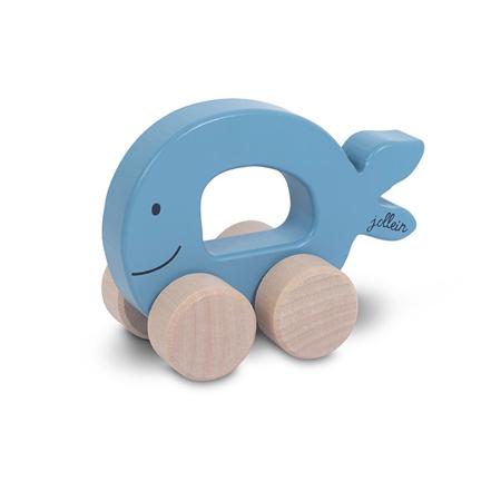 Jollein® Drvena igračka Car Fish Blue