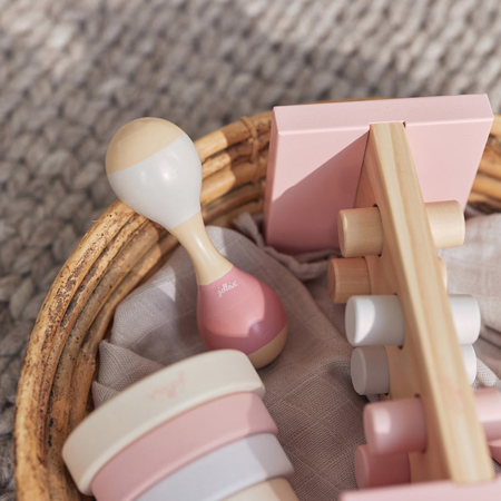 Slika za Jollein® Drvena zvečka Maracas Pink