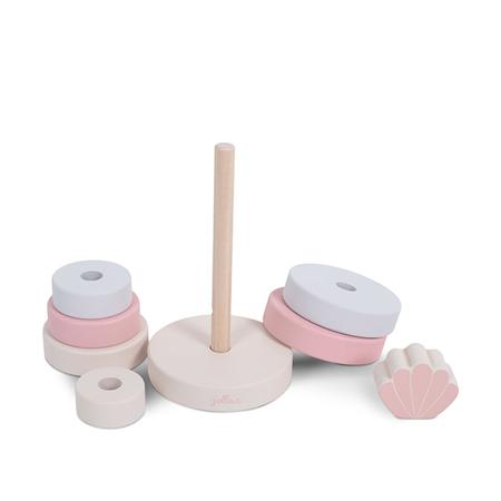Jollein® Drveni toranj za slaganje Shell Pink
