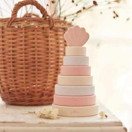 Slika za Jollein® Drveni toranj za slaganje Shell Pink