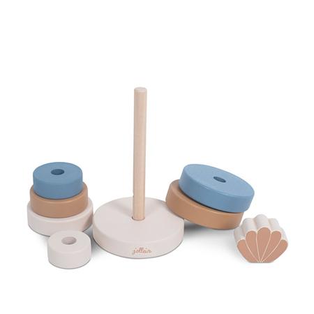 Jollein® Drveni toranj za slaganje Shell Blue