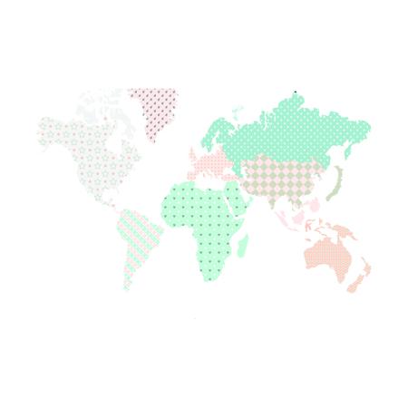 Dekornik® Zidna naljepnica Karta Svijeta Pastel - M