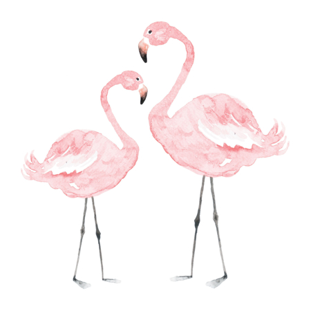 Dekornik® Zidna naljepnica Flamingosi - M