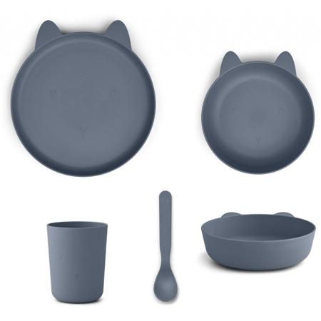 Slika za Liewood® Set za jelo od silikona Paul Rabbit blue wave
