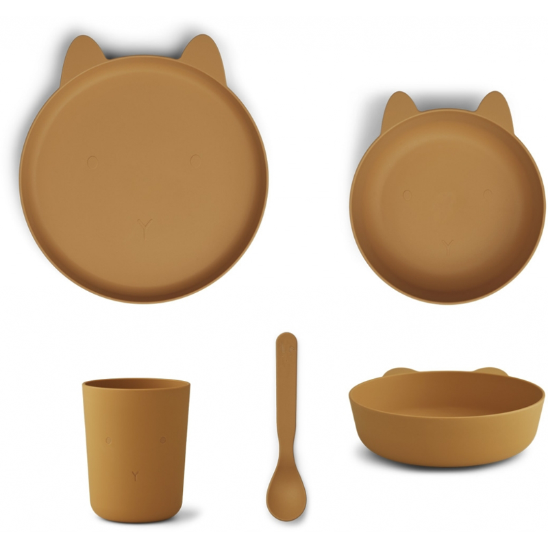 Slika za Liewood® Set za jelo od silikona Paul Rabbit Mustard