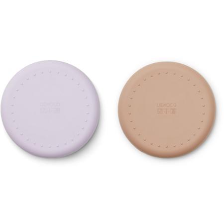 Slika za Liewood® Komplet silikonskih tanjura Gordon  Cat light Lavender Rose Mix