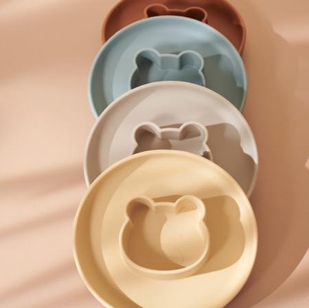 Slika za Liewood® Komplet silikonskih tanjura Gordon Mr Bear Wheat Yellow/Sandy Mix