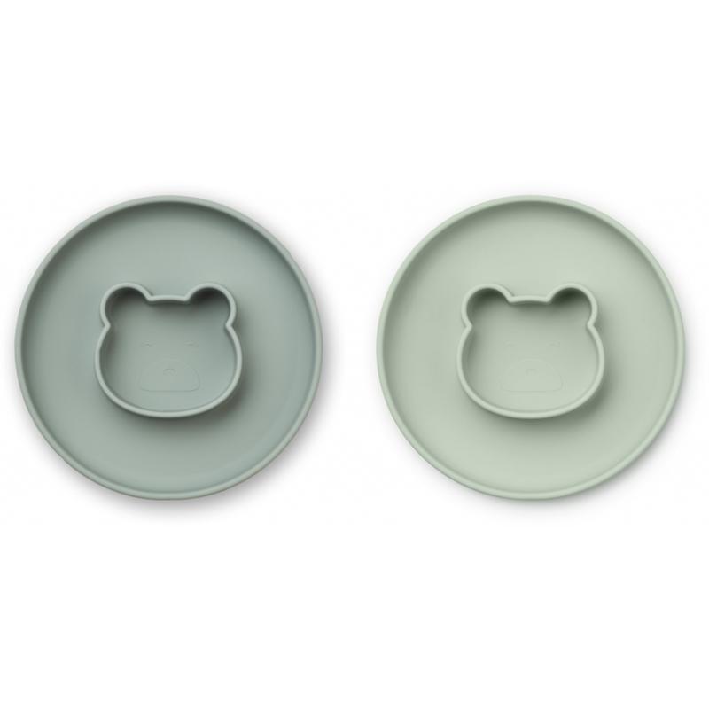 Slika za Liewood® Komplet silikonskih tanjura Gordon Mr Bear Mint Mix