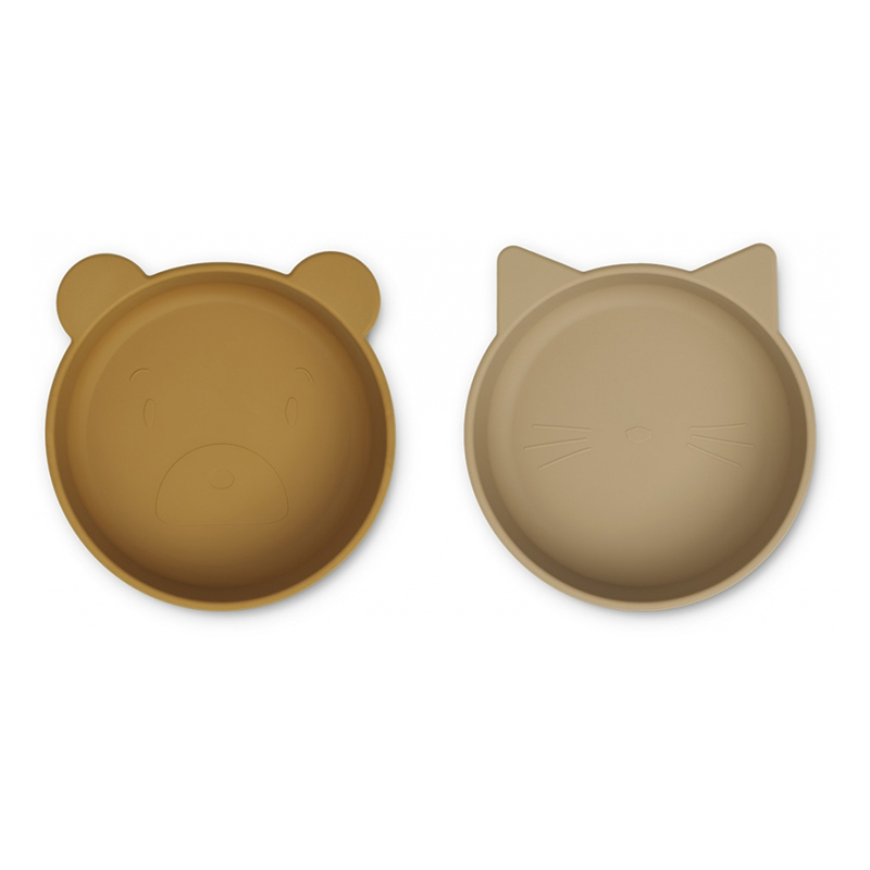 Slika za Liewood® Komplet silikonskih posudica Vanessa Golden Caramel Oat Mix