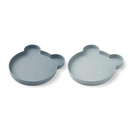 Slika za Liewood® Komplet 2 silikonska tanjura Marty Mr Bear Blue Mix