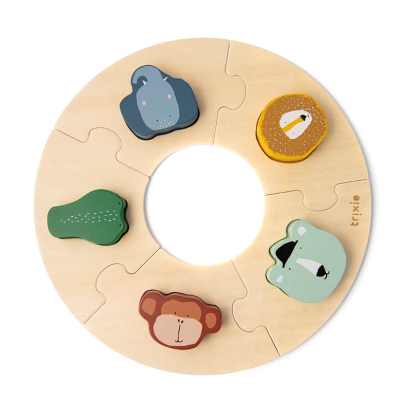 Slika za Trixie Baby® Drvene puzzle u krugu