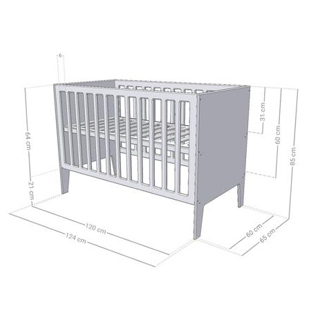 Slika za Benlemi® Dječji krevetić Sleepy 120x60