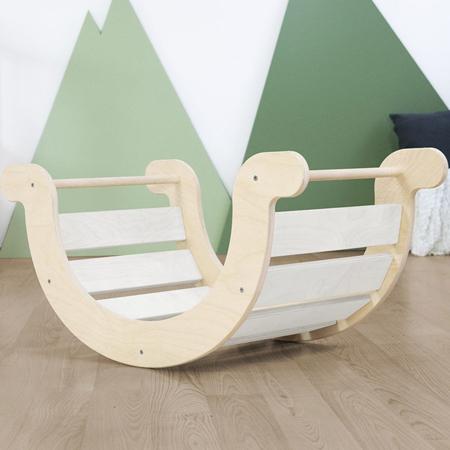 Slika za Benlemi® Dječja ljuljačka za ravnotežu Montessori Yupee White