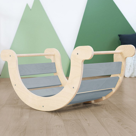 Slika za Benlemi® Dječja ljuljačka za ravnotežu Montessori Yupee Grey