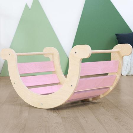 Slika za Benlemi® Dječja ljuljačka za ravnotežu Montessori Yupee Pink