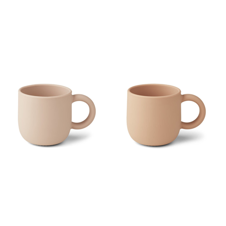 Slika za Liewood® Set dvi silikonske šalice  s ručkom Merce Rose Mix