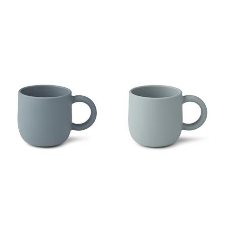 Slika za Liewood® Set dvi silikonske šalice  s ručkom Merce Blue Mix
