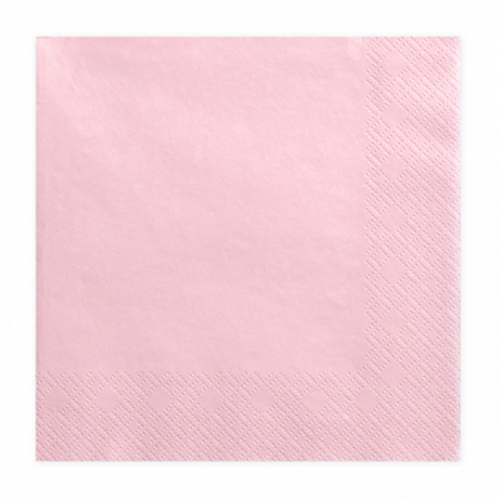 Slika za Party Deco® Troslojne salvete Light Pink 20 komada