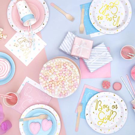 Party Deco® Troslojne salvete Light Pink 20 komada