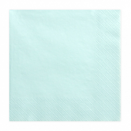 Slika za Party Deco® Troslojne salvete Pale Turquoise 20 komada
